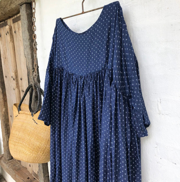 Anouk Cotton Silk Dress - Royal Blue