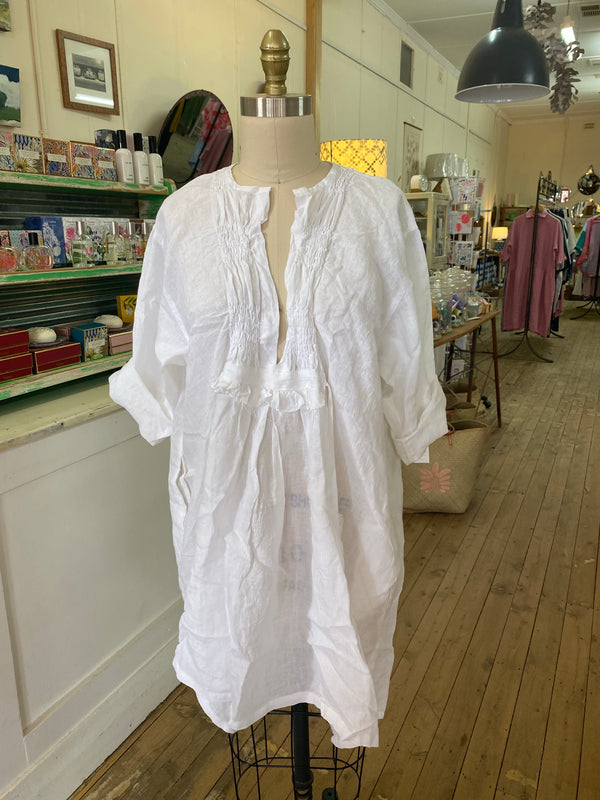 Lora Linen Top - White