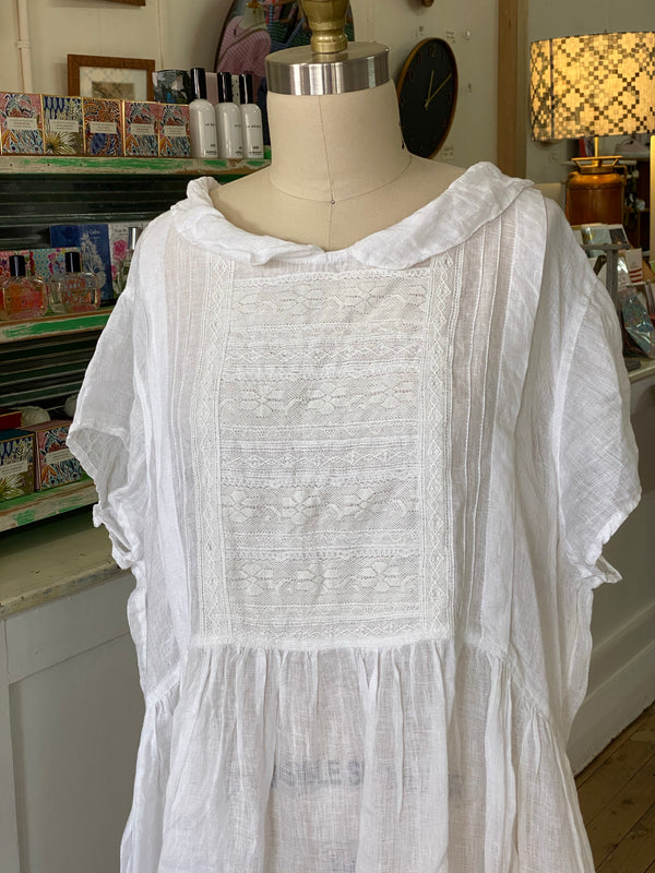 Alice Linen Dress Short Sleeves - White