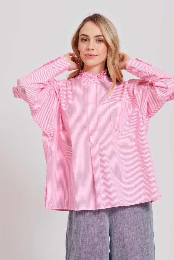 Bella Shirt - Pink Stripe