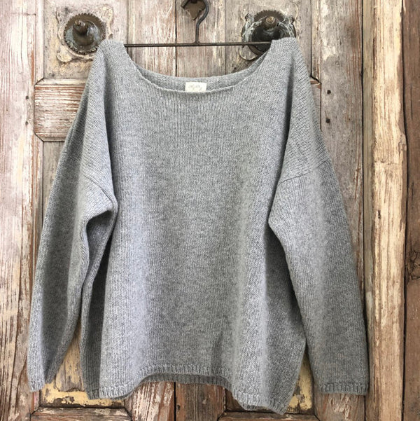 Boyfriend Jumper - Soft Grey