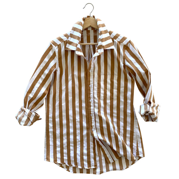 Franklin Awning Stripe Overshirt - Camel