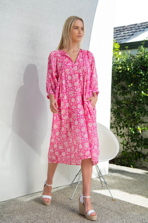 Mia Dress - Pepper Pink
