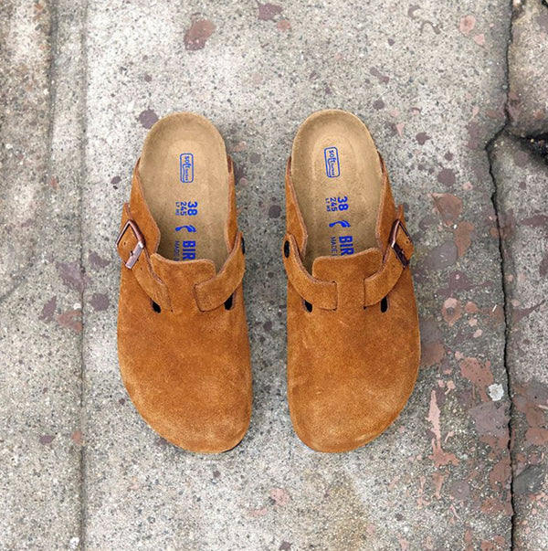 Boston - Soft Footbed Suede Leather in Mink