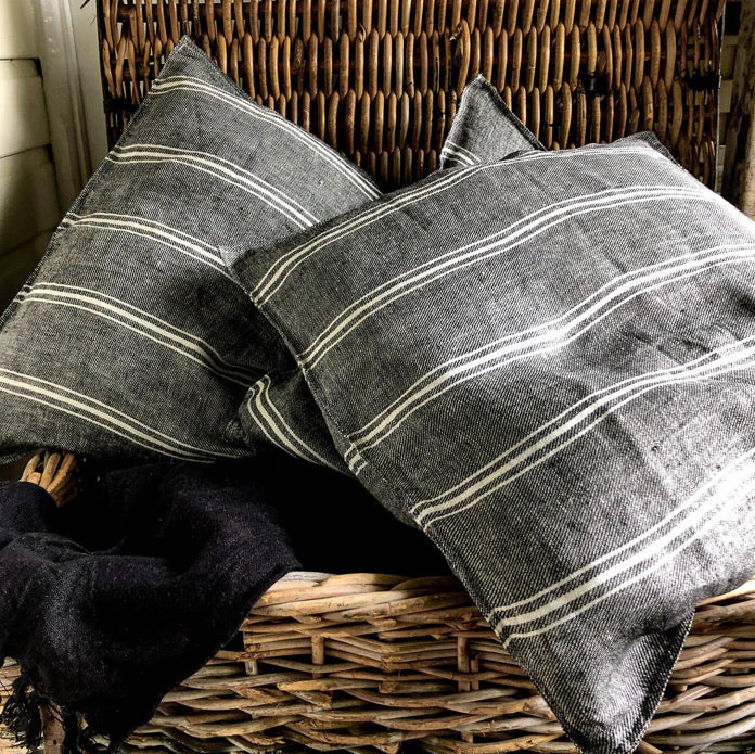 Euro Cushion Cover - Butcher Stripe