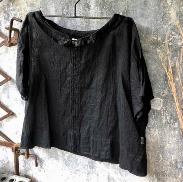 Paper Daisy Top - Black