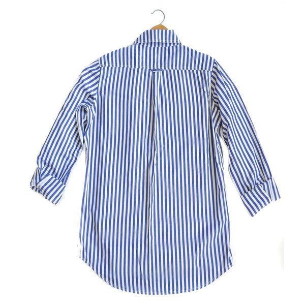 Franklin Bold Stripe Shirt - Indigo/White