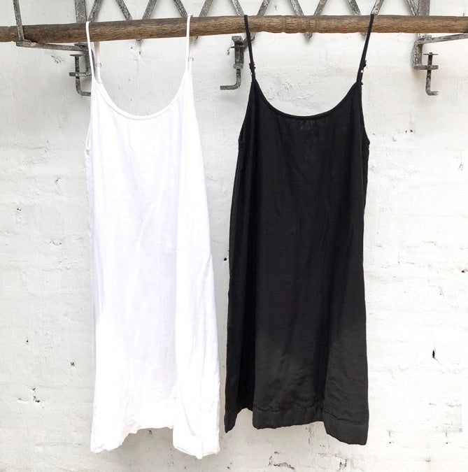 Cotton Slip - White and Black