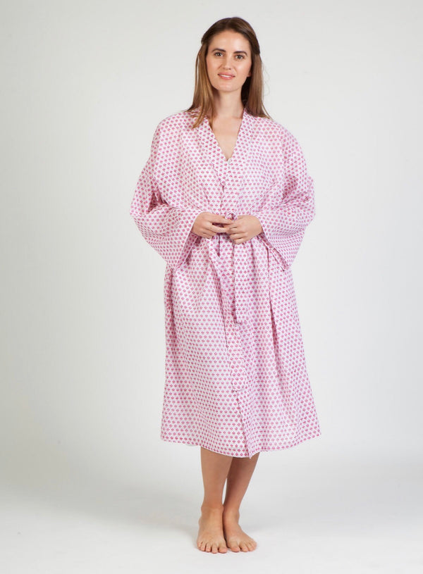 Hand Block Printed Dressing Gown