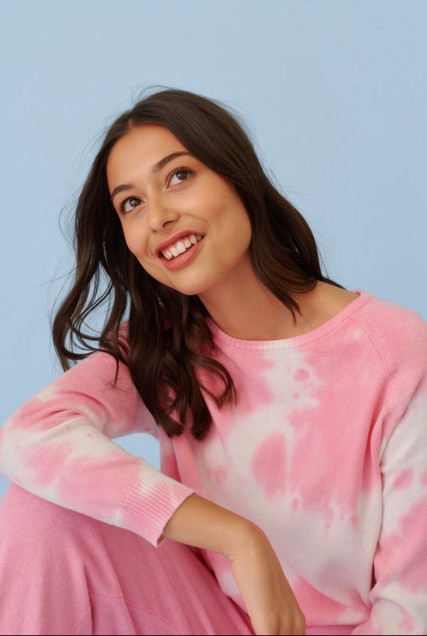 Sweet Talker Sweater - Pink/White