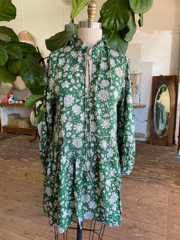 Kailani Dress - Jaipur Green
