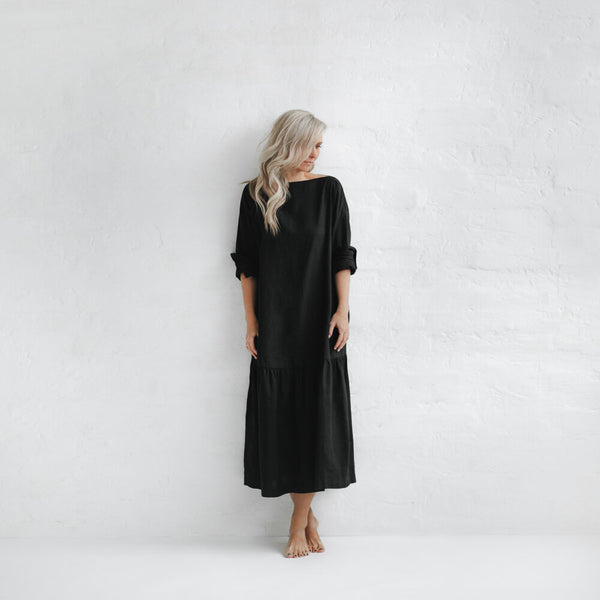 Drop Waist Dress - Black