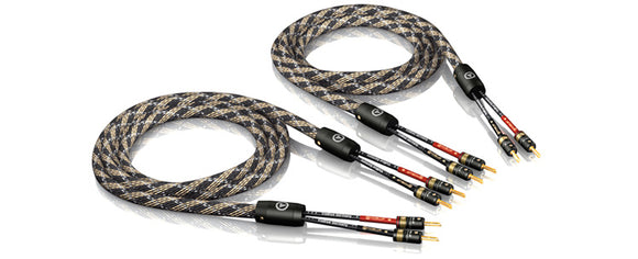 VIABLUE™ SC-2 SPEAKER CABLES/T6 BANANA PLUG [1 PAIR]