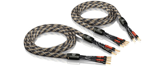 VIABLUE™ SC-4 SPEAKER CABLES BI-WIRE/CRIMPED [1 PAIR]