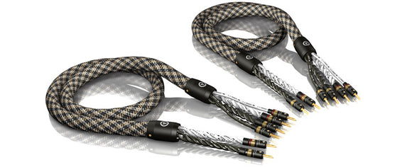 VIABLUE™ SC-6 SPEAKER CABLES BI-WIRE/T6 BANANA PLUGS [1 PAIR]