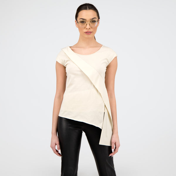 Silk Embellished T-Shirt