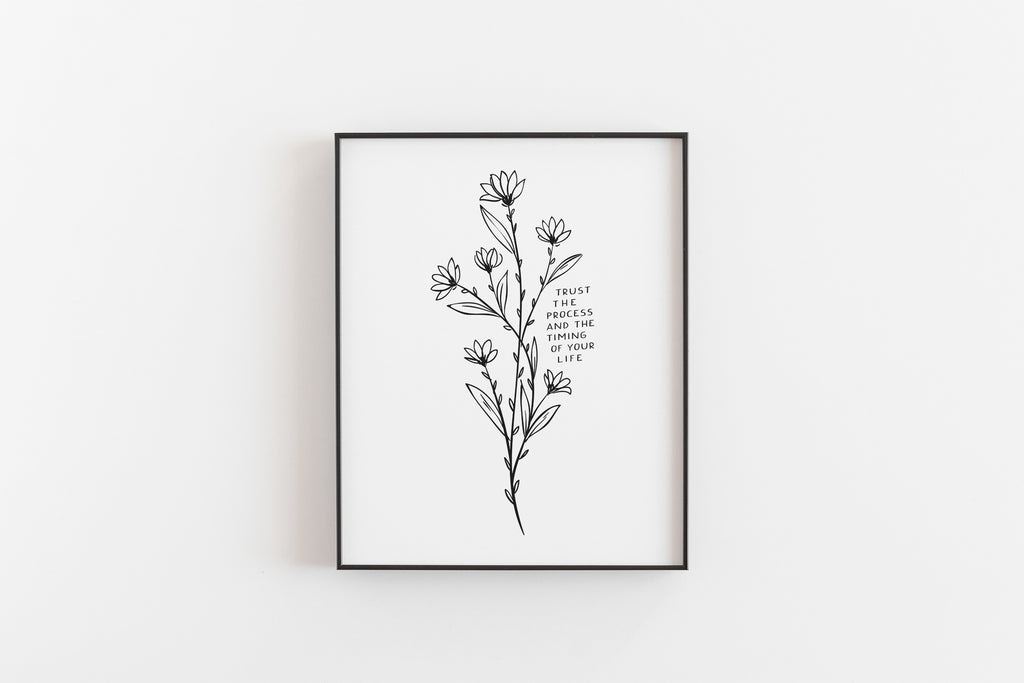 Black and White Quotes Gallery Wall-Printable Zen Co