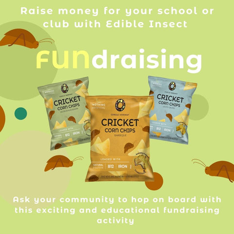 School Fund raising edible insect sports clubs