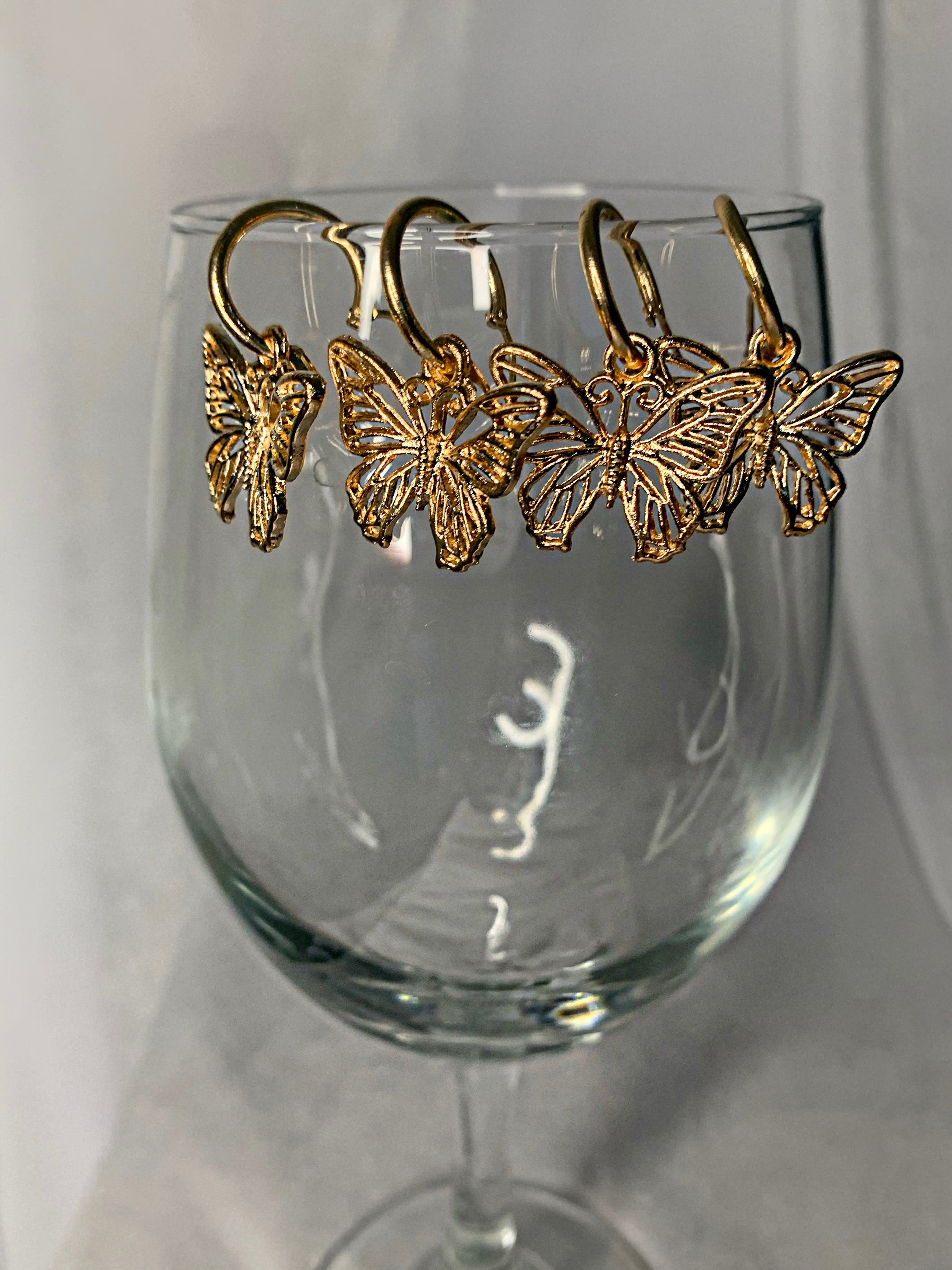 Gold Flutter Hoops
