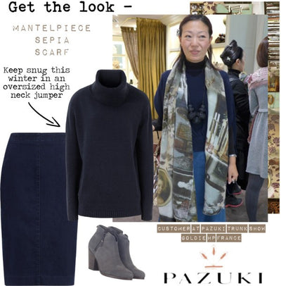 AW14 - Get the Look - Mantelpiece Sepia Scarf