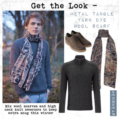AW14 - Get the Look - Pazuki - Metal Tangle Yarn Dye Scarf