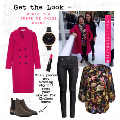 AW14 - Get the Look - Roses Red Crepe de Chine Shirt