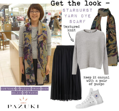 AW14 - Get the Look - Starburst Yarn Dye Scarf