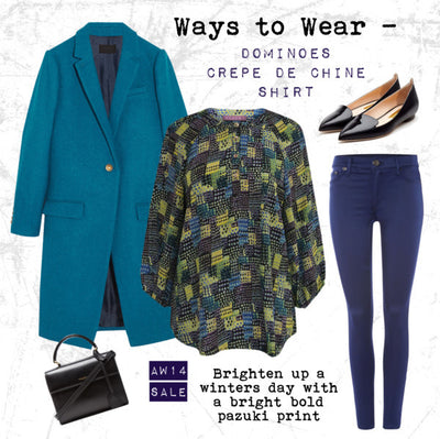 AW14 - Ways to Wear - Dominoes Crepe de Chine Shirt