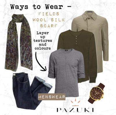 AW14 - Ways to Wear - Fields Wool Silk Scarf