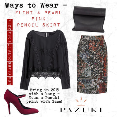 AW14 - Ways to Wear - Flint & Pearl Pink Pencil Skirt