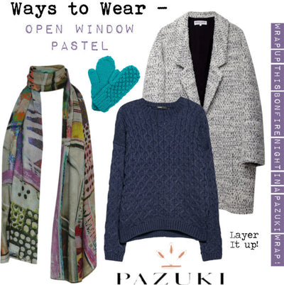 AW14 - Ways to Wear - Open Window Pastel Scarf
