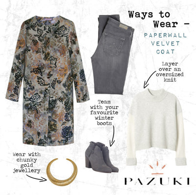 AW14 - Ways to Wear - Paperwall Velvet Coat