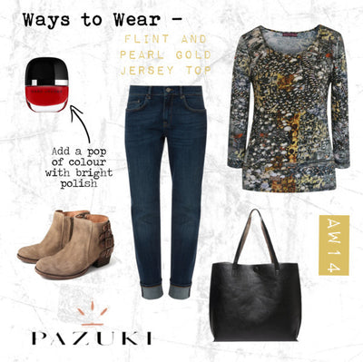 AW14 - Ways to Wear - Pazuki - Flint and Pearl Gold Jersey Top
