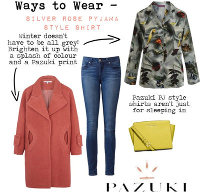 AW14 - Ways to Wear - Silver Rose Pyjama Style Shirt