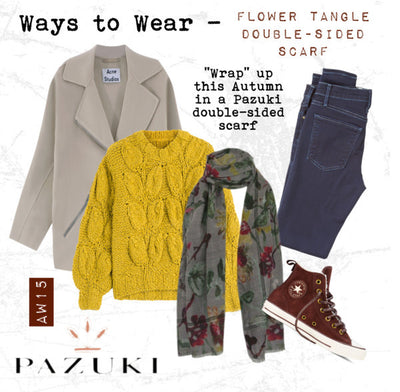 AW15 - Pazuki - Ways to Wear - Flower Tangle Double-Sided Scarf