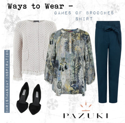 AW15 - Pazuki - Ways to Wear - Game of Brooches Shirt