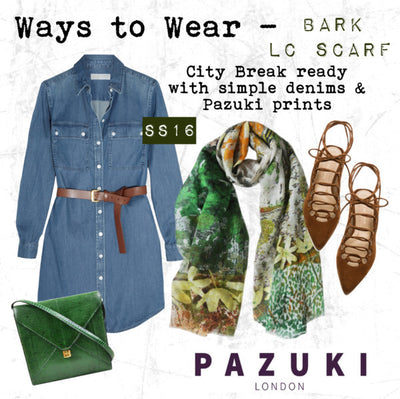 SS16 - Pazuki - Ways to Wear - Bark Linen Cotton Scarf