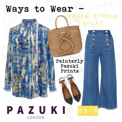 SS16 - Pazuki - Ways to Wear - Brush Stroke Blue Shirt