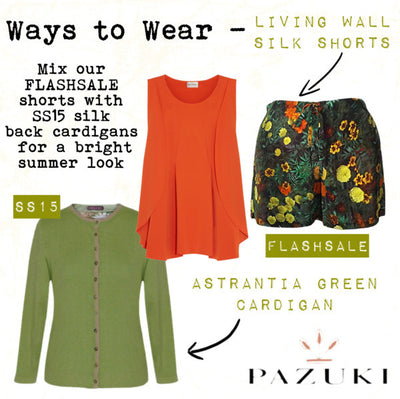 FLASHSALE - SS14 - Ways to Wear - Pazuki - Living Wall Silk Shorts