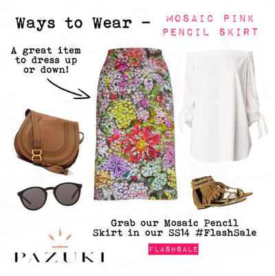 FLASHSALE - SS14 - Ways to Wear - Pazuki - Mosaic Pencil Skirt