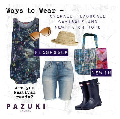 SS16 & FLASHSALE - Pazuki - Ways to Wear - Overall Camisole & Patch Tote