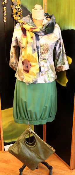 Katie's Saturday Selection - SS15 - Cream Tea Shirt and Sunflower Scarf