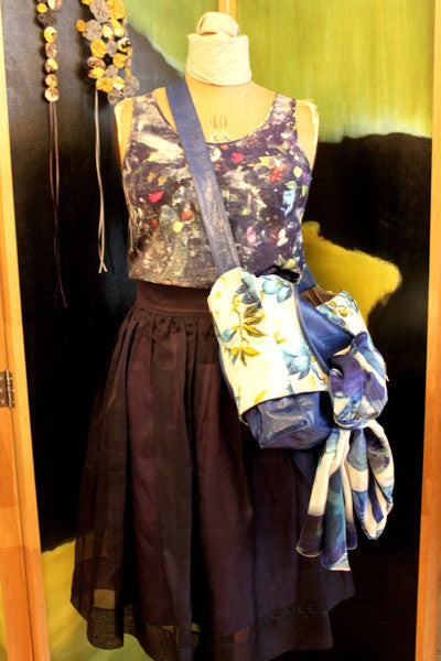 Katie's Saturday Selection - SS15 - Overall Camisole and Blue Shadow Silk Scarf