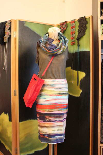 Katie's Saturday Selection - SS15 - Streak Pencil Skirt and Window Box Linen Silk Wrap