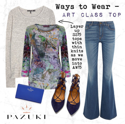 SS15 - Ways to Wear - Pazuki - Art Class Jersey Top