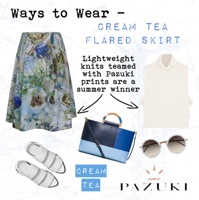 SS15 - Ways to Wear - Pazuki - Cream Tea Flared Skirt