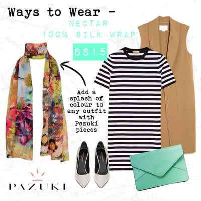 SS15 - Ways to Wear - Pazuki - Nectar 100% Silk Scarf