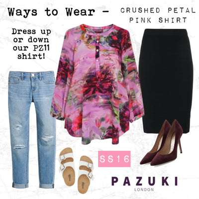 SS16 - Pazuki - Ways to Wear - Crushed Petal Pink Shirt