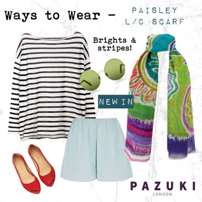 SS16 - Pazuki - Ways to Wear - Paisley Linen Cotton Scarf