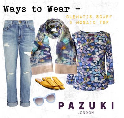 SS17 - Pazuki - Ways to Wear - Clematis Scarf & Mosaic Top